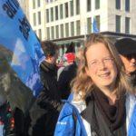 photo portrait à la marche pour le climat